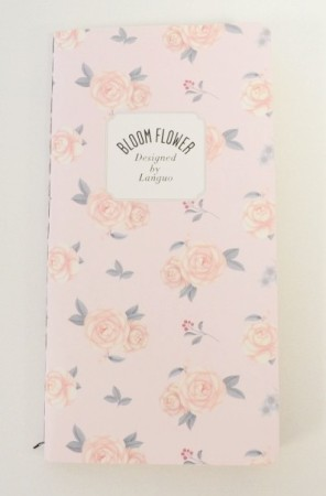 "Carnet ""Bloom Flower"" rose"