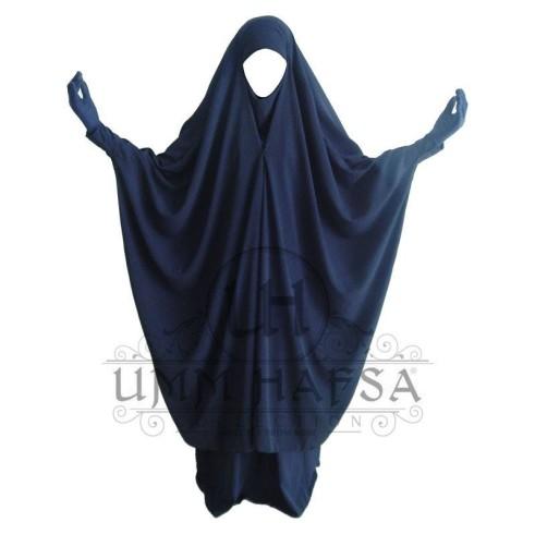Jilbab 2 pièces à clips Umm Hafsa BLEU NUIT