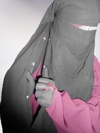 Sittar/Niqab Cape 1m60 NOIR