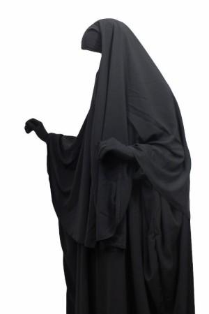 'Abaya + Hijab Umm Hafsa NOIR
