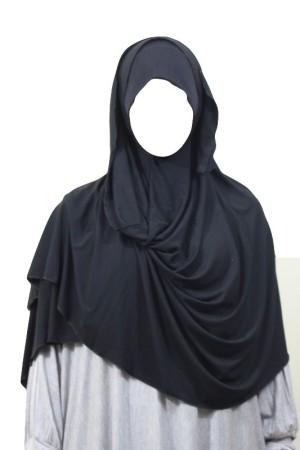 Maxi-Hijab Stretch NOIR