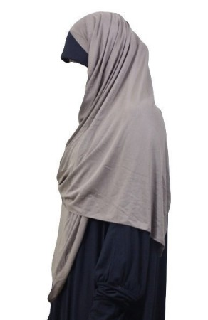 Maxi-Hijab Stretch GRIS ANTHRACITE