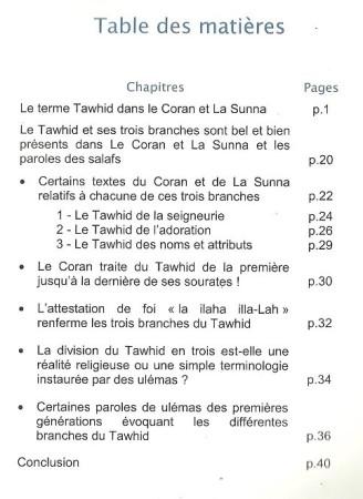 Lot de 10 Livres Recueil traitant du Tawhid