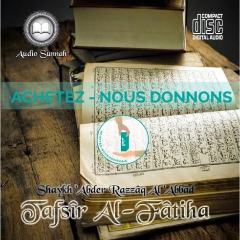 CD Tafsir Sourate al Fatiha - Shaykh abderRazzak al 'abbad
