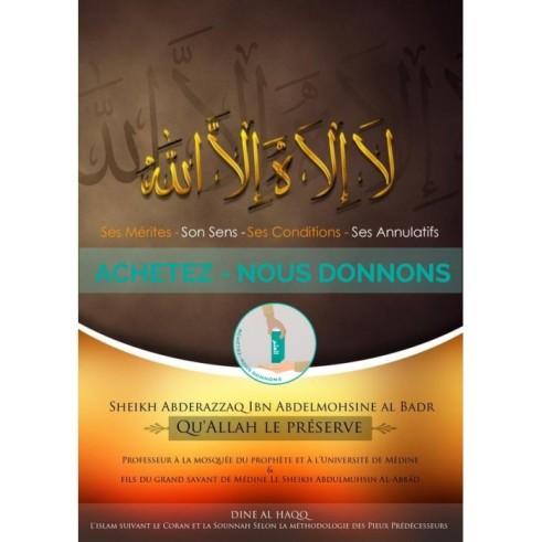 La Ilaha Illa Allah (Achetez nous donnons)