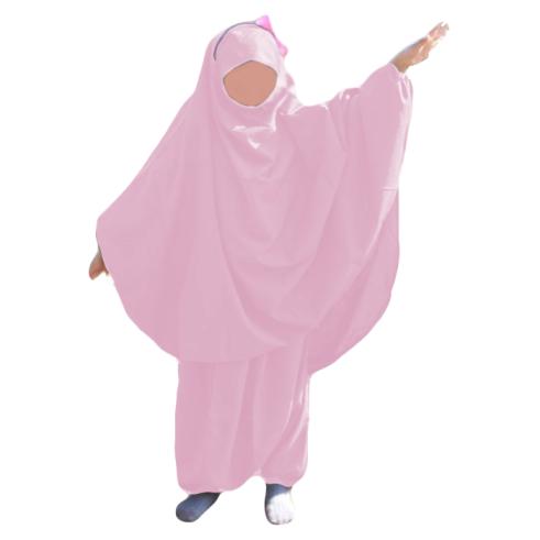 Jilbab fillette sarwel ROSE GIRLY
