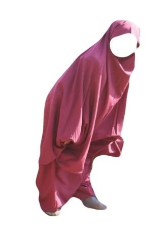 Jilbab fillette as salafiyat  sarouel FRAMBOISE 6mois