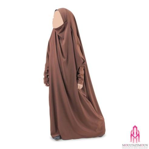 Jilbab Benet NOIR (1m15-1m55)