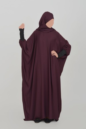 Abaya khaleej Nida BORDEAU FIGUE