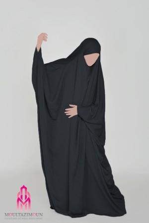 Jilbab saoudien Nida Tradition NOIR