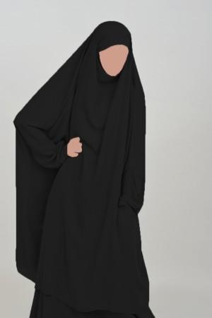 Jilbab Houda Cocoon à poches NOIR