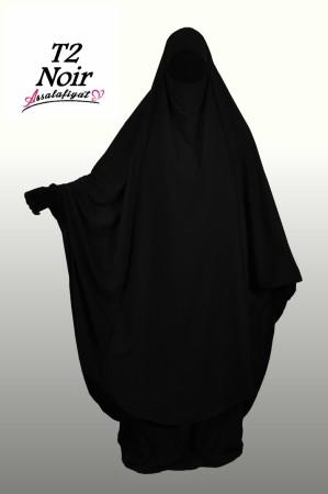 Jilbab as-Salafiyat 2 Pièces X-Tra large NOIR
