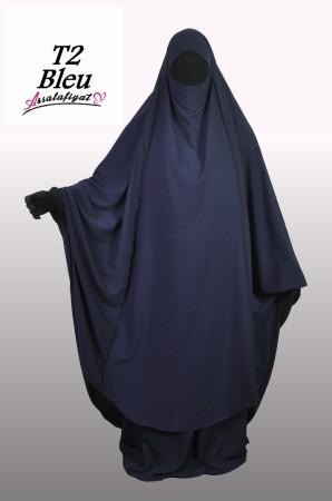 Jilbab as-Salafiyat 2 Pièces X-Tra large BLEU NUIT