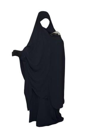 """Jilbab de portage/allaitement """"As Salafiyat"""" BLEU NUIT"""