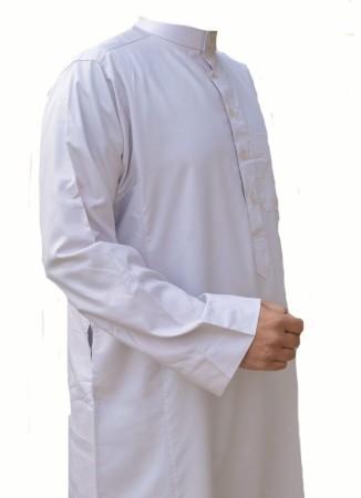 Qamis Haramain BLANC GRIS